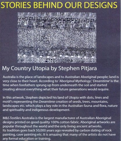 Information on My Country Utopia by Stephen Pitjara