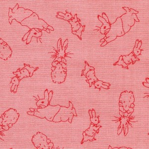 Bunny Toile - Pink
