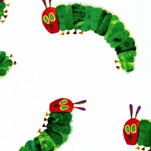 Large Hungry Caterpillar - White