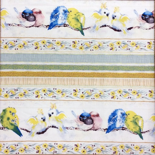 Bush Babies Border Stripe - Yellow