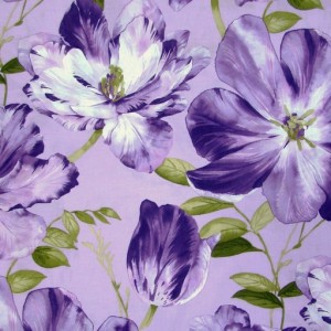 Extra Large Spaced Floral - Mauve