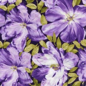 Large Floral - Purple