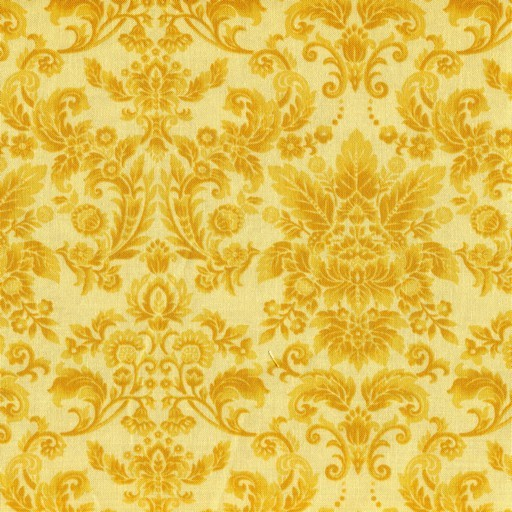 Damask - Gold on Yellow