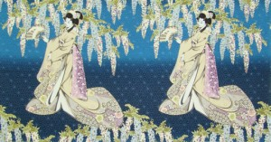 Geisha Dynasty Panel - Blue
