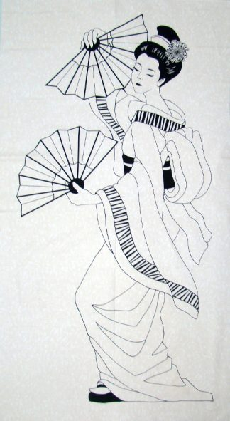 Graceful Geisha Panel