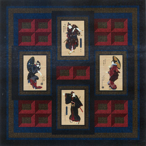 Bushido Quilt by Nine Miles Patterns