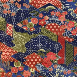 Geometric Garden - Blue