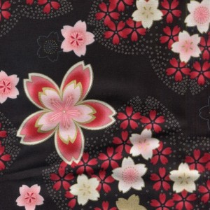 Large Cherry Blossom - Black