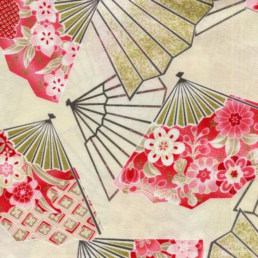 Oriental Fans - Cream