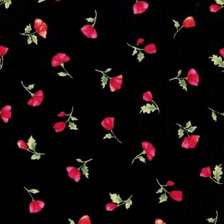 Small Poppy Panache - Black