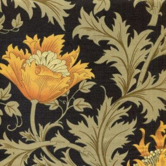 Winding Floral - Black