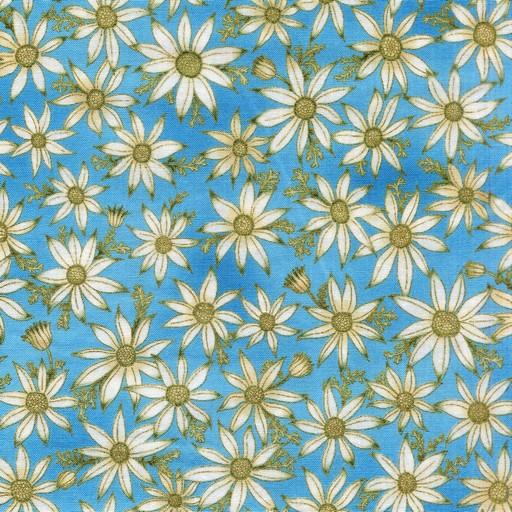 Flannel Flowers - Blue