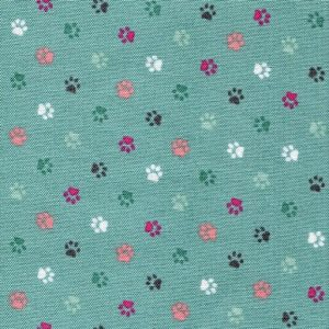 Cat Paw Prints - Teal