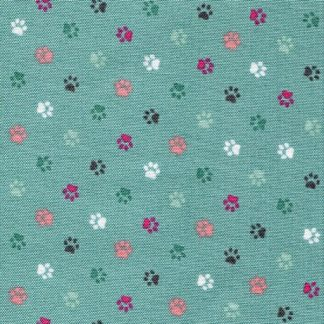 Cat Paw Prints - Teal