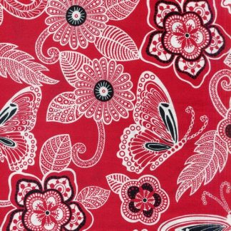 Butterfly Floral - Red