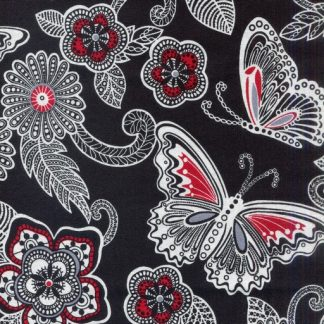 Butterfly Floral - Black