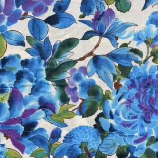 Large Mixed Floral - Blue