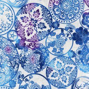 Circular Floral - Blue