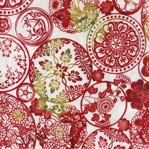 Circular Floral - Red