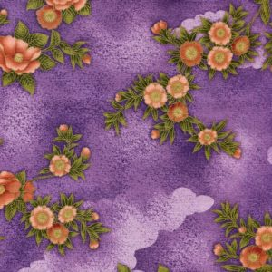 Floral Clouds 1267 - Purple