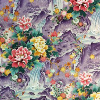 Floral Mountain Falls EMPE-16 Purple