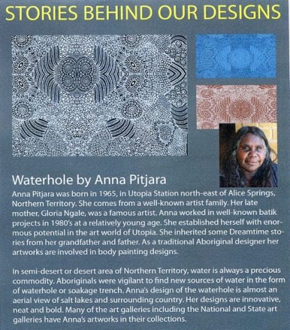 Information on Waterhole by Anna Pitjara
