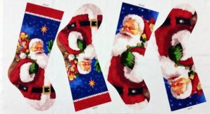 Santa Surprise Stocking Panel