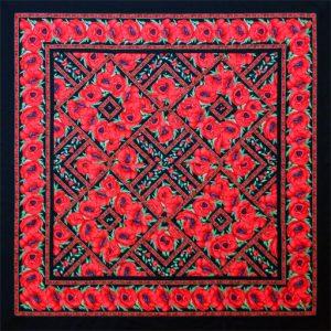Scarlet Poppies Quilt Kit