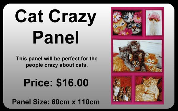 Cat Crazy Panel