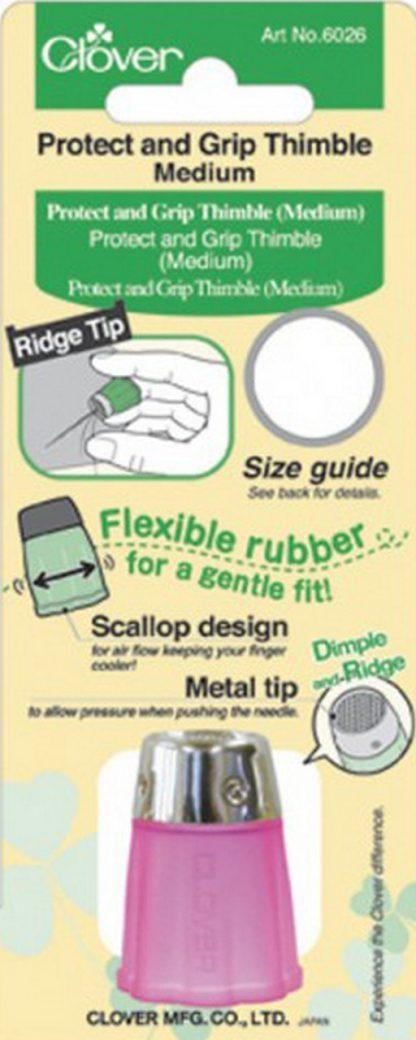 Clover Protect and Grip Thimble (Medium) Art No. 6026