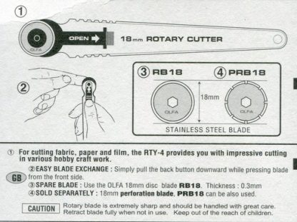 Information on 18mm Olfa Rotary Cutter
