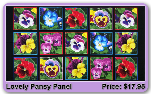 Lovely Pansy Panel
