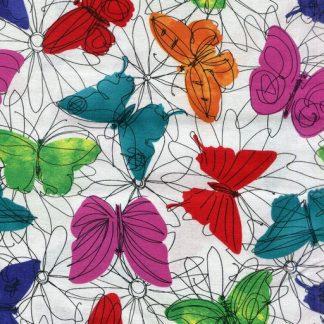 Funky Floral Butterflies - Multi