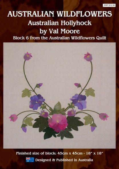 Australian Wildflowers Pattern 6: Australian Hollhock (by Val Moore)