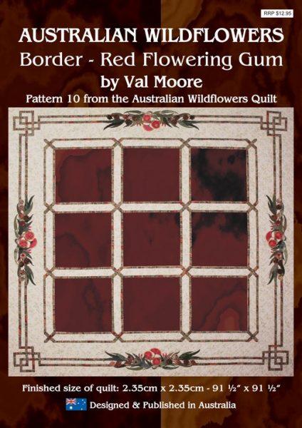 Australian Wildflowers Pattern 10: Border - Red Flowering Gum by Val Moore