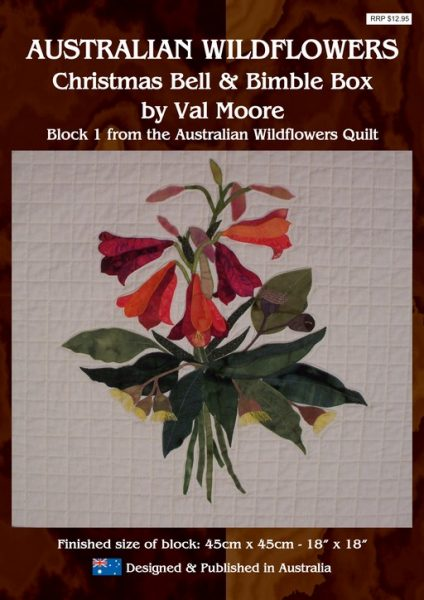 Australian Wildflowers Pattern 1: Christmas Bell and Bimble Box (by Val Moore)