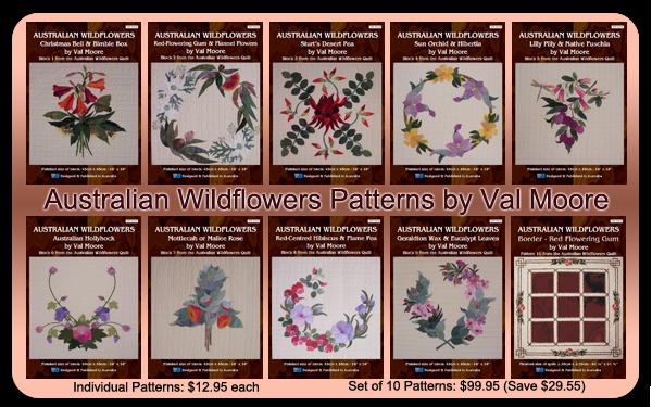 Australian Wildflowers Patterns by Val Moore