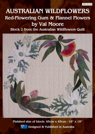 Australian Wildflowers Pattern 2: Red Flowering Gum and Flannel Flowers (by Val Moore)