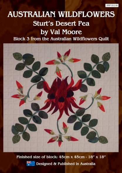 Australian Wildflowers Pattern 3: Sturt's Desert Pea (by Val Moore)