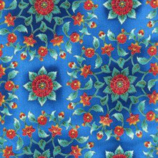Geometric Floral - Blue