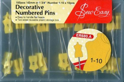 Decorative Numbered Pins 1-10