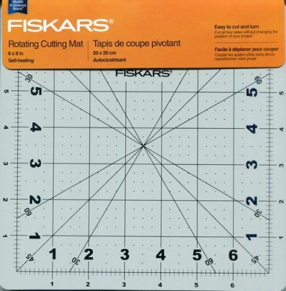 Fiaskars 8 Inch Roatating Cutting Mat with Packaging Header