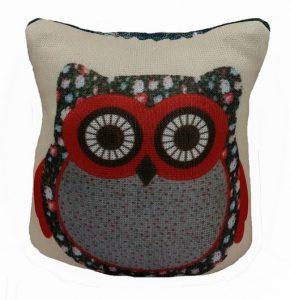 Owl Pin Cushion - Red