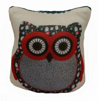 Owl Pin Cushion - Red
