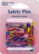 Safty Pins - Multi (Packet of 50) 414.AC