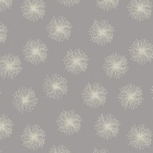 Floating Dandelion - Grey and Silver