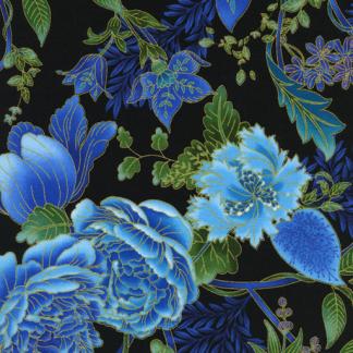 Large Floral cm1203-black