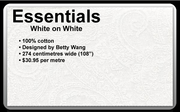 Essentials - White on White