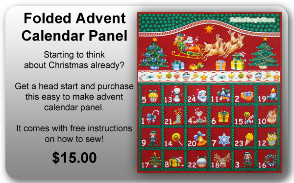 Folded Advent Calendar Panel