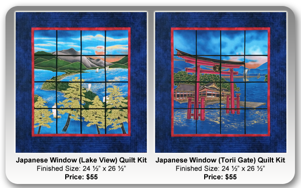 Japanese Window Quilt Kits by Margaret Kirkby